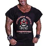 Musclealive Uomo Culturismo Men Rag Top Allenamento Spugna di Coton