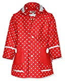 Playshoes - Cappotto Impermeabile a pois, manica lunga, bambina, Rosso (Rot (Rot)), 86 cm
