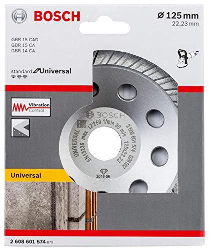 Bosch Professional 2608601574 Mola a Tazza Diamantata Standard for Universal per Calcestruzzo e Pietra Naturale, Accessorio per Smerigliatrice Angolare, 0...