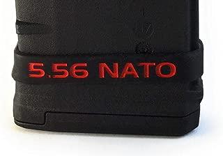 Sighthound Ballistics 5.56 NATO Magazine Caliber ID Marking Band 4 Pack (Black-Red)