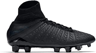 Nike Junior Hypervenom 3 Elite DF FG Soccer Cleats (Black)