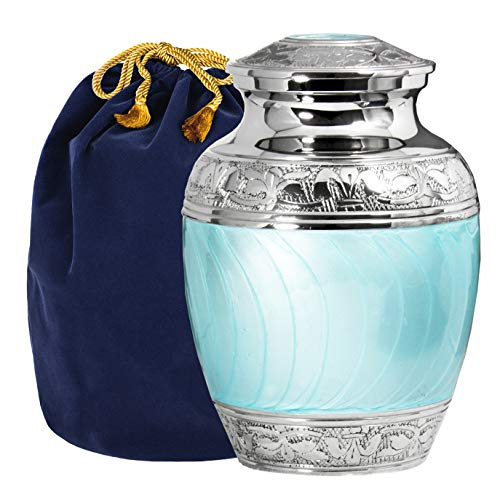Hugs and Kisses Beautiful Light Blue Child's Cremation Urn