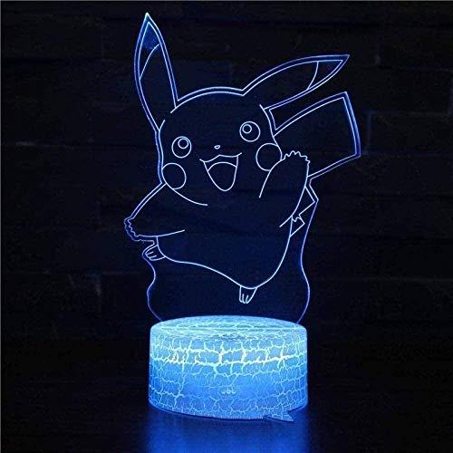 A-Generic 16 Colores Luz de Noche Inteligente para niños 3D Animal de Dibujos Animados Mariposa USB de Carga con Control Remoto táctil Regalos de cumpleaños para niños y niñas N14-N26