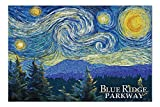 Promini Blue Ridge Parkway - Starry Night - 1000 Piece Jigsaw Puzzles for Adults Kids, Puzzles for Toddler Children Learning Educational Puzzles Toys for Boys and Girls 20' x 30'