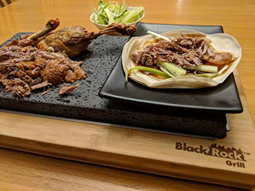 Black Rock Grill Steak Lava Stone Sharing Set Table Top Grill
