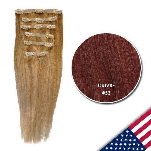 Royal Extension Extensions À Clips Luxury Hair 46 Cm #33 Cuivré 130g