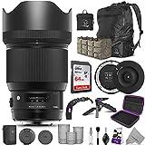 Sigma 85mm f/1.4 DG HSM Art Lens for Nikon F Cameras + Sigma USB Dock with Altura Photo Advanced Accessory and Travel Bundle