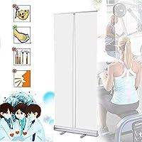 OESFL 透明な床立ち保護スクリーン、ポータブル衛生パーティションスクリーンのカウンターくしゃみに対する保護咳ショップのためのオフィスジムサロン理容室のパブレストラン (Size : 60*160cm)