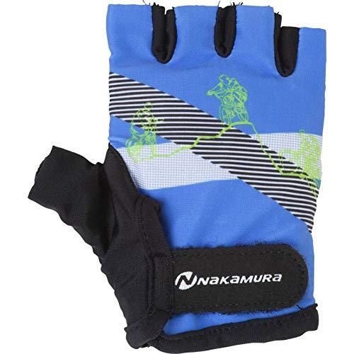 Nakamura Kinder-Radsport-Fahrrad-Handschuhe Dolo blau grün, Größe:L