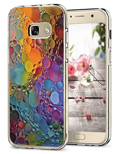 Hülle Kompatibel Samsung Galaxy A5 2017 Hüllen, Galaxy A3 2017 Schutzhülle Durchsichtig Silikon Handyhülle Clear TPU Schutz Handytasche Blumen Muster Case Cover für A5 2017 (9, Galaxy A5 2017)