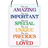 Dorothy Spring You Are Amazing Important Special Unique Precious Loved Inspirational Quote Wall Metal Small Plaque Sign Size 4x3 inch
