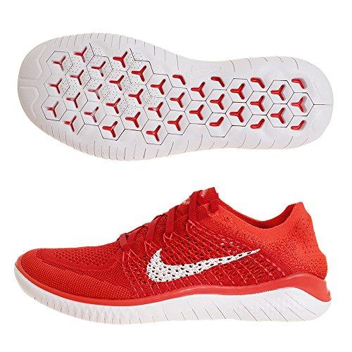 Nike Men's Free Rn Flyknit Running Shoe (9.5 M US, University Red/White)