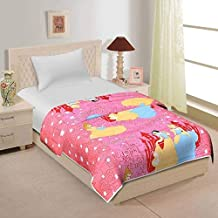 Home Spaces Instacrafts Cartoon Character Cotton Single Bed AC Dohar/Blanket, Multicolour