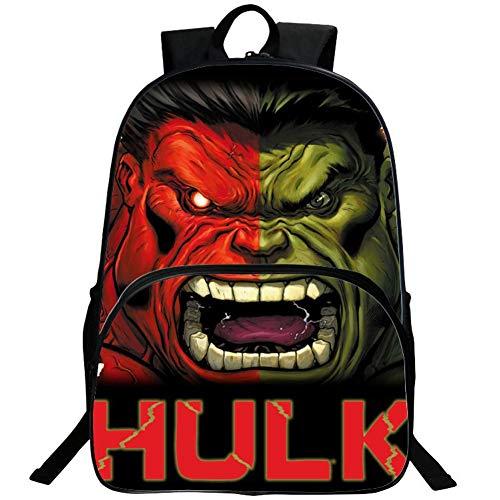 Hulk backpack,3D Super Hero School Backpack Boys Book Bag