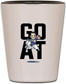 GOAT Tom Brady Shot Glass - New England Football Fans Gifts Shot Glasses Saying