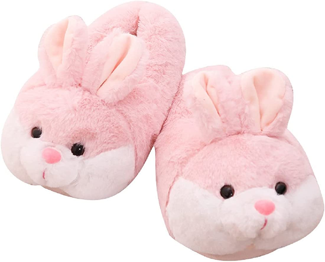 HANDKEI Women's Bunny Slippers Gifts Funny Animal Slippers Bunny Indoor Plush Slippers