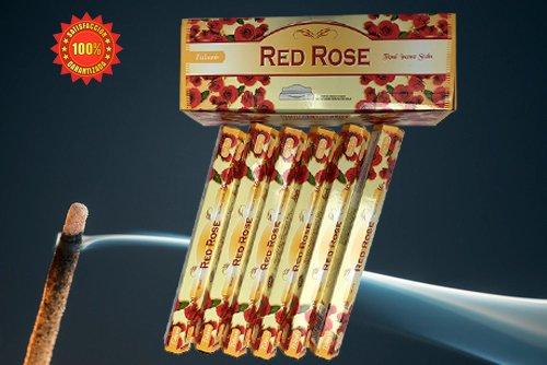 Incienso Aromático Rosas | Incienso Natural Aromaterapia | Barras de Incienso | Caja 6 Paquetes de...