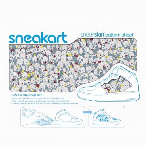 Sneakart film adhésif gris skulls chaussures