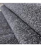 Teppich Kurzflor Modern Wohnzimmer Einfarbig Meliert Uni günstig Versch. Farben - Grau, 140x200 cm - 4