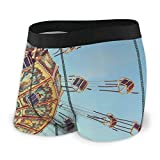 XCNGG Calzoncillos de Ropa Interior para Hombres Calzoncillos Tipo bóxer Men's Boxer Briefs Wave Swinger Ride Against Blue Sky Stock Photo