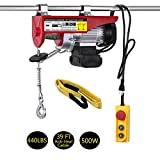 LIMICAR Electric Hoist 440LBS Overhead Lift Electric Hoist Crane Garage Ceiling Pulley Winch Remote Control Power System with Premium Straps 6.6'x3' Lift Sling