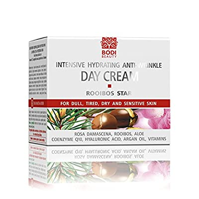 Rooibos Intensive Anti-Wrinkle, Lifting, Firming Day-Cream With Argan Oil, Rooibos & Hyaluronic Acid - No Animal Testing - 50ml by Bodi-d