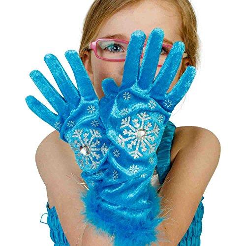 Lucy Locket - Guantes de Disfraz, inspirados en Frozen, Color Turquesa (3 a 6 años)