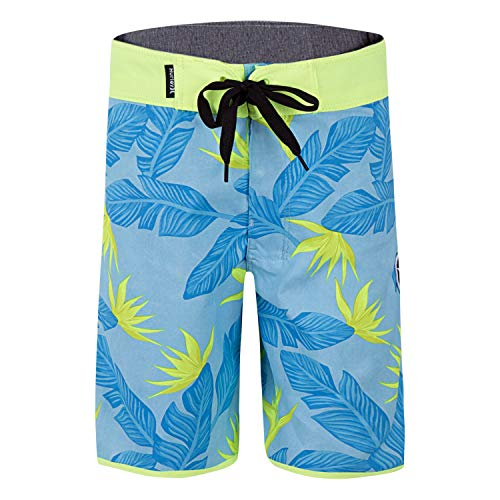 Hurley Boys' Little Stretch Board Shorts, Topaz Mist, 7