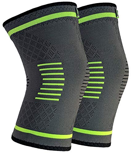 NatraCure Compression Knee Sleeves, 1 Pair - (Size: Small) - Braces and Supports Knee for Pain Relief, Meniscus Tear, Arthritis, Injury, Running, and Joint Pain - Best Knee Sleeve