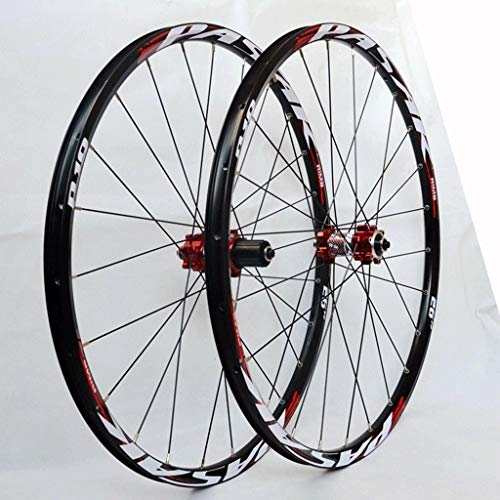 LSRRYD VTT Roue 26 27,5 29 Pouces Jantes Cyclisme Frein À Disque Roue Vélo Montagne 24H 7-12...