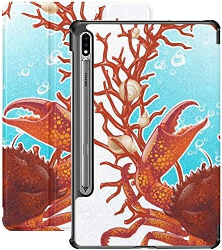 Designed for Tab S7 Case Crab Red Coral Frame Samsung Tab S7 11 Inch Case 2020 premium Shock product image