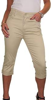 ICE Vita Alta da Donna, Jeans Capri con Lucentezza 46-56