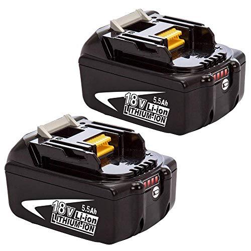 2X BL1860B de Repuesto para Makita Batería 18V BL1860B BL1850 BL1850B BL1830 BL1830B BL1840 BL1815 BL1825 BL1835 BL1845 LXT400 FUNMALL