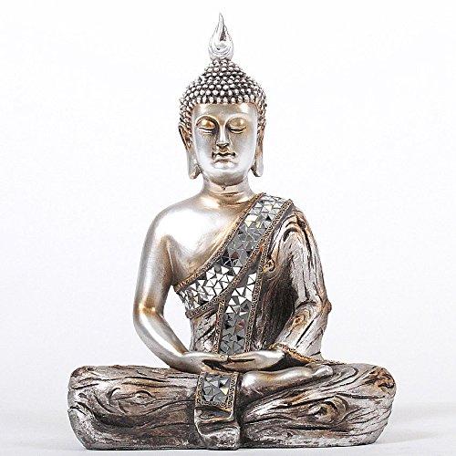 Deko Asien Garten Buddha Figur Statue Skulptur FENG Shui 35 cm Garten