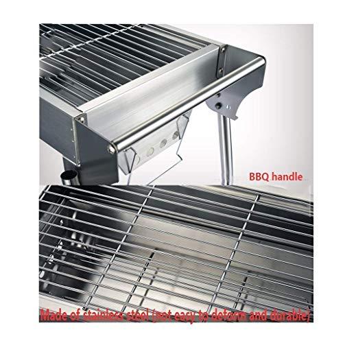 51tdoONHbBL - Außen Barbecue im Freien Holzkohle-Grill, Schreibtisch Edelstahl Folding BBQ Grill Camping Gartengrill Grillzubehör Outdoor-Party DYWFN