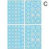 BLOUR 4 unids/Set calcomanía de Ventana de Navidad Pegatinas de Copo de Nieve Pegatinas de Pared de Invierno para Habitaciones de niños Decoraciones de Ventana de Navidad de Año Nuevo