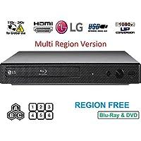 Dynastar LG BP-250 Reproductor de BLU-Ray Libre de región, multiregión Inteligente 110-240 voltios, 6 pies HDMI Bundle