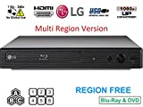 Dynastar LG BP-250 HDMI-Bundle (Region frei Blu-Ray-Player, Multi Region Smart 110–240 V, 1,8 m)