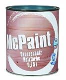 McPaint Wetterschutzfarbe – Holzfarbe für außen auf Acryl Basis mit langanhaltendem Wetterschutz, PU-verstärkt, Möbellack, seidenmatt, 0,750L, Taubenblau, RAL 5014 - Weitere Farbtöne...