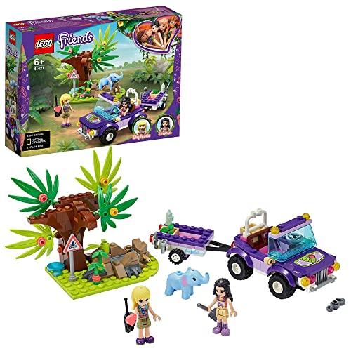 lego friends animali della giungla LEGO Friends Salvataggio nella Giungla dell'Elefantino con Mini-doll di Emma e Stephanie