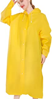 Hwcpadkj Rain Ponchos 2 Pack, Waterproof Rain Coat with Hoods and Sleeves, Reusable Rainwear for, Portable Raincoat for Hi...