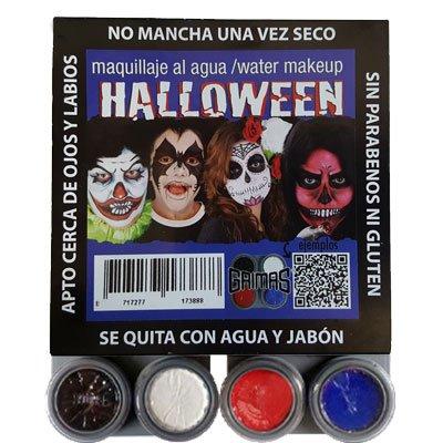 Kit Maquillaje Halloween Zombie al Agua Fantasia Grimas