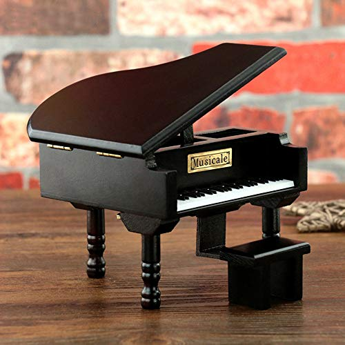 Piano Music Box You are My Sunshine– Clockwork Mechanical Wooden Piano Music Jewelry Box Classical for Girls/Daughter