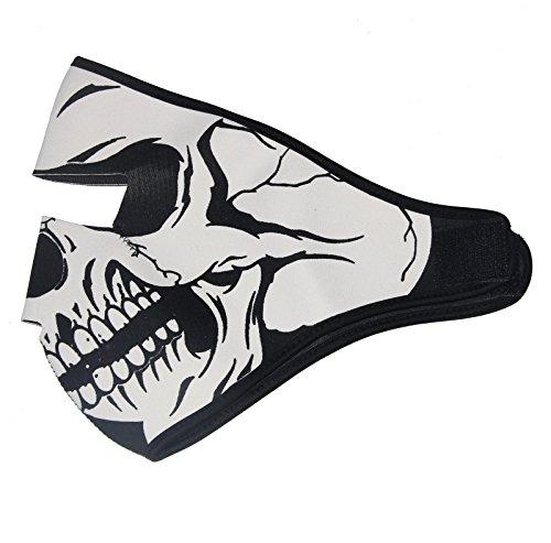 ThreeH Cubierta Facial Capucha 2 en 1 Cráneo Reversible Cráneo Máscara de Rostro Completo Gorras de Snowboard FM08A