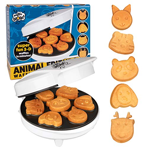 CucinaPro Animal Mini Waffle Maker- Makes 7 Fun, Different Shaped Pancakes - Electric...