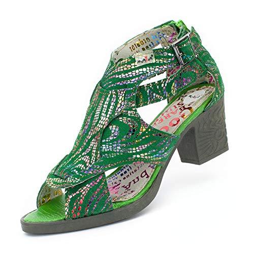 TMA 1101 Damen Sandaletten Leder grün - EUR 38