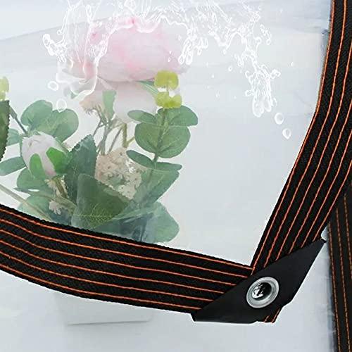 Lona de Protección - Lona de Transparente Impermeable - Lona de Material de PVC Plegable Lona Alquitranada con Ojales para Coverup Plantas de Jardines, Invernaderos,Clear,2x3m/6.6x9.8'