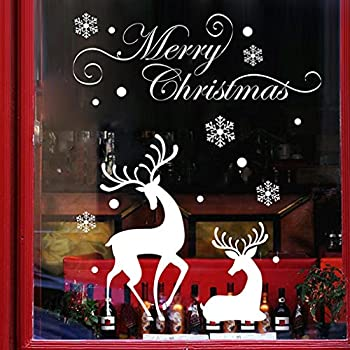 IEason Christmas Wall Stickers Christmas Mural Removable Wall Sticker Decal Marry Christmas Decor Stickers  A