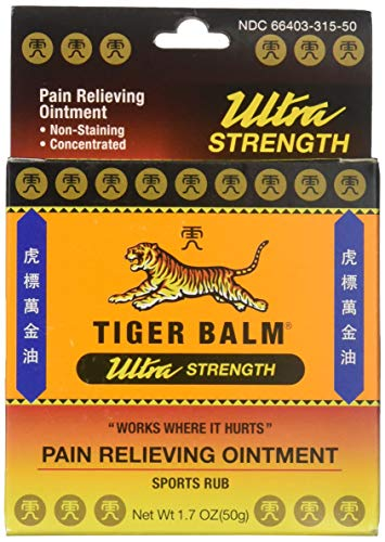 Tiger Balm Sport Rub Pain Relieving Ointment, Ultra Strength 1.70 oz (Pack of 6)