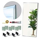 鏡 全身 壁掛け DIYセット BIG 四角 60×150cm 姿見鏡 特大 ミラー 取り付け用品セット